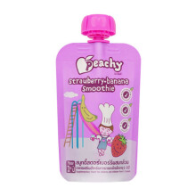 PEACHY Smoothie Strawberry & Banana Pouch - 100gr
