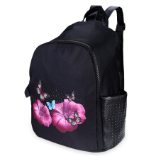 Cute Girl Cartoon Print Bead Rivet Tote Handbag Travel Shopping School Backpack WINGED INSECT