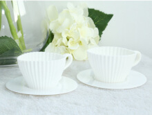 4pcs Silicone Cupcake Muffin Baking Mold Cups with Tea Saucers