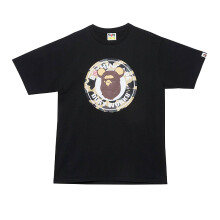 A BATHING APE Bear Busy Works Tee - Black [L] 0ZX TE M110912 8 BKX