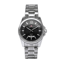 SWISS NAVY Man Black Dial Stainless Steel [8306MSSBK]