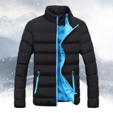 BESSKY  Men Winter Warm Slim Fit Thick Bubble Coat Casual Jacket Parka Outerwear _