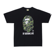 A BATHING APE ABC Camo by Bathing Tee - Black