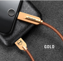 MCDODO 2 in 1 Knight Swries Zinc Alloy Lightning Data Cable 1.2M MCA