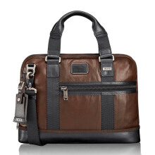 TUMI Alpha Bravo Earle Compact Brief Leather Dark Brown [92610DB2]