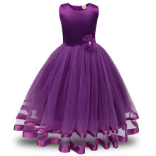 BESSKY Flower Girl Princess Bridesmaid Pageant Tutu Tulle Gown Party Wedding Dress_