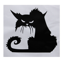 Halloween Decor Spooky Black Cat Scary Car Bike Window Laptop Wall Decal Sticker PVC