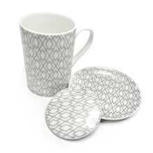 ST. JAMES Lustre Geo A Mug Set 3Pcs - Gold