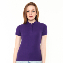 STYLEBASICS Ladies Basic Polo Shirt - Purple