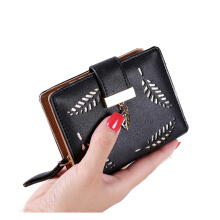 Small Leaf wallet - Black