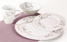 NAKAMI Dinner Set Gold Branch MH 702 - 16 PCS