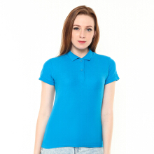 STYLEBASICS Ladies Basic Polo Shirt - Saphire Blue