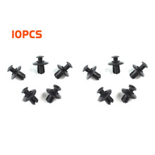 PAO MOTORING Car Plastic Rivets Fastener Fender Bumper Push Pin Clips 8mm Hole Pack of 10PCS Durable