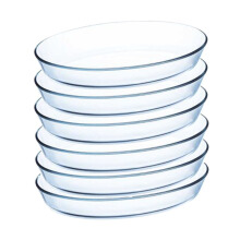 LUMINARC Piring Serveware Oval 26CM x 20CM J1337 Set of 6