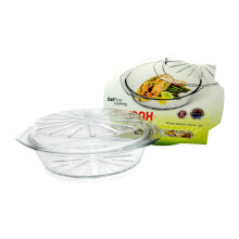 SIMAX Cookware Glass Round Casserole 2.5L With Lid / Mangkuk Oven - 6176/6186/P