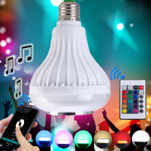 Smart E27 Bulb RC Colorful LED Lamp Bluetooth 3.0 Speaker