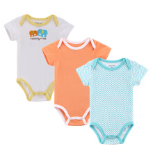 Mother Nest 3 pcs Baby rompers Short Sleeves Summer Clothing Cute Pure Cotton Jumpsuits & Pajamas of boys and girls #8