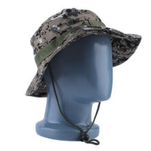 Military Army Jungle Camo Boonie Bucket Cap Hat Fishing Camping Hiking
