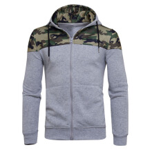 BESSKY Mens' Winter Camouflage Zipper Hoodie Hooded Sweatshirt Coat Jacket Outwear_