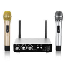 Excelvan K28 Wireless Microphone Golen and Silver