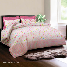 KING RABBIT Bed Cover Single Motif Baby Bubble Pink/ 140x230 cm