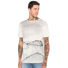 NUDIE JEANS Loose Tee Water Colour - Offwhite