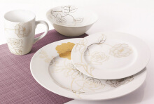 NAKAMI Dinner Set Gold Rose MH 2218 - 16 PCS