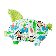 LA MILLOU Sleepy Pig Pillow - Happy Monkey Green SP081G
