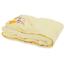 Choupituo Cute Cartoon Print Hooded Blanket for Babies(Yellow)