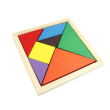 BESSKY Geometry Wooden Jigsaw Puzzle - Orange