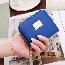 BESSKY Women Leather Small Wallet Card Holder Zip Coin Purse Clutch Handbag_
