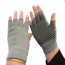 Breathable Sweat-Absorbent Yoga Fingerless Non-slip Exercise Grip Gloves