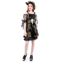 HOUSE OF COSTUMES Lux Female Pirate W-0044 - Black One Size