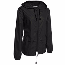 BESSKY Women's Lightweight Rain Jacket Outdoor Packable Waterproof Hooded Raincoat _