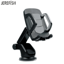 JEREFISH Car Phone Holder 360 Rotating Universal Windshield Dashboard Car Mobile Phone Mount Cradle Sucker for iPhone Galaxy Grey
