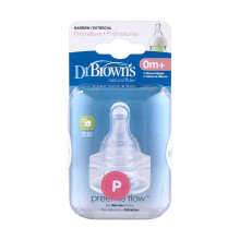 DR. BROWN'S Natural Flow Preemie Silicone Narrow-Neck