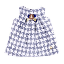 KIDDIEWEAR Dress Tartan Grey with Brooch 1RN7397