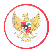 Tactical Series Velcro Patch 7.25 x 7.25 cm - Garuda Pancasila - White Red