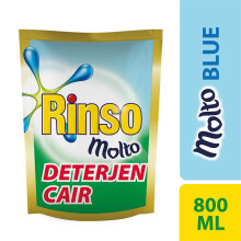 RINSO Molto Deterjen Cair Blue 800ml