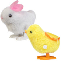BESSKY New Infant Child Toys Hopping Wind Up Easter Chick and Bunny- Multicolor