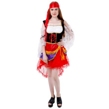 HOUSE OF COSTUMES Dazling Gypsy Girl W-0191 - Red