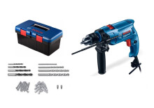 Bosch Impact Drill GSB 550 Freedom Kit + 90 Aksesoris + Box