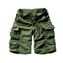 European and American fashion new men's large size multi-pocket camouflage overalls men loose Shorts Army Green 3XL