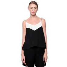 LOOKBOUTIQUESTORE Two Tone Tank - Black/White