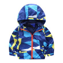 BESSKY Baby Infant Girl Boys Geometric Hooded Zip Coat Cloak Jacket Thick Warm Clothes_