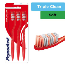 PEPSODENT Triple Clean Sikat Gigi Soft Multipack Isi 3
