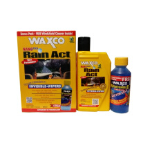 WAXCO Rain Act (250 ml) + Windshield Cleaner (120 ml) - Pengkilap Kaca Mobil & Pelapis Kaca Mobil Anti Air / Water Repellent Kuning