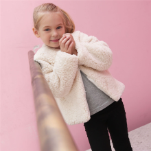 BESSKY Kid Baby Girl Autumn Winter Faux Cashmere Coat Jacket Thick Warm Outwear Clothes_