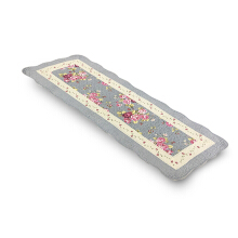 Vintage Story Table Runner Shabby Flowery - Blue