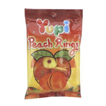 YUPI Peach Ring Mini Bag 45gr x 6pcs